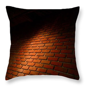 River Walk Brick Wall Throw Pillow