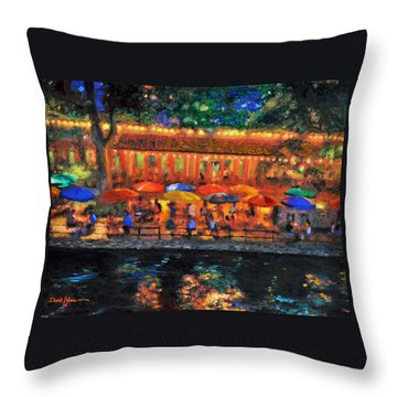 Da190 River Walk By Daniel Adams Throw Pillow
