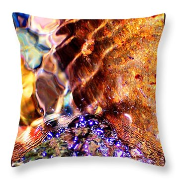 River Water Abstract Throw Pillow