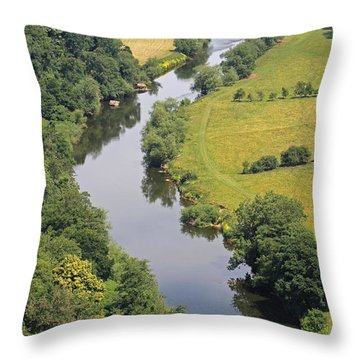 River Wye Throw Pillow
