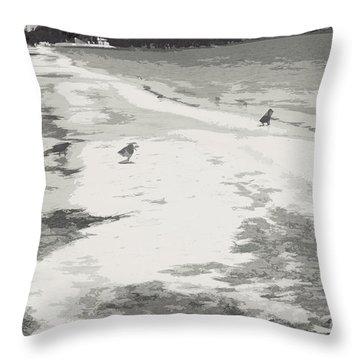 Throw Pillow featuring the photograph Riverbank Birds II by Cassandra Buckley