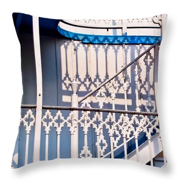 Riverboat Railings Throw Pillow