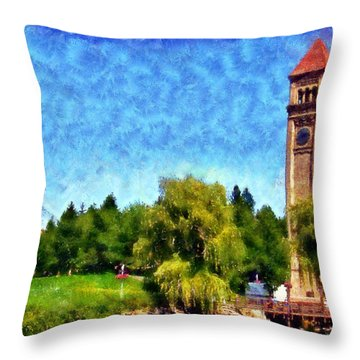Riverfront Park Throw Pillow by Kaylee Mason