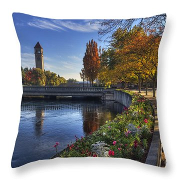 Riverfront Park - Spokane Throw Pillow