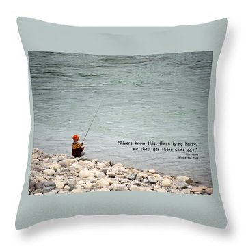 Rivers Know This Throw Pillow