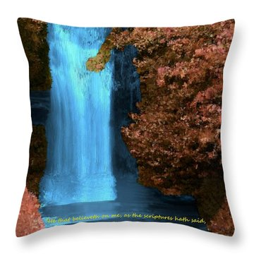 Rivers Of Living Water Throw Pillow by Bruce Nutting