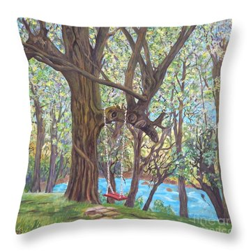 Riverside Throw Pillow by Caroline Street
