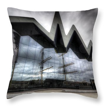 Throw Pillow featuring the photograph Riverside Museum by Ross G Strachan