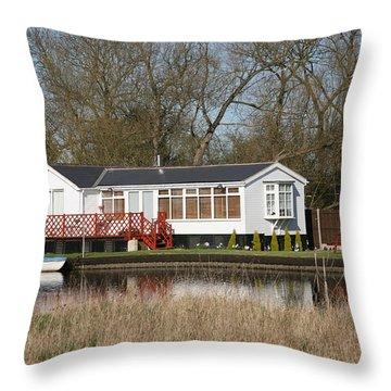 Riverside Retreat Throw Pillow by Mark Severn