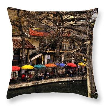 Throw Pillow featuring the photograph Riverview by Deborah Klubertanz
