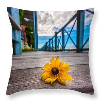 Riverwalk Fallen Throw Pillow