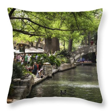 Throw Pillow featuring the photograph Girl By The Water by Steven Sparks