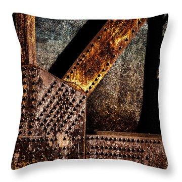 Rivets  Throw Pillow by Bob Orsillo