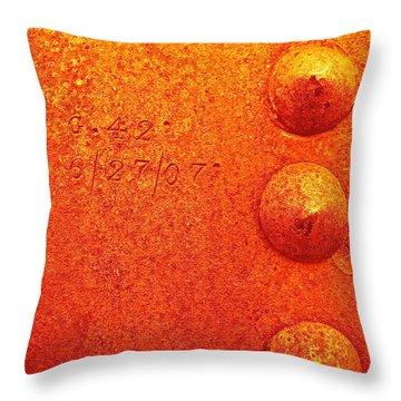 Rivets Throw Pillow by Linda Bianic
