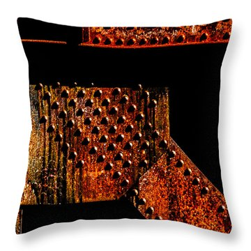 Rivets Number Two Throw Pillow by Bob Orsillo