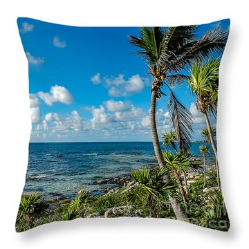 Cave Diving Country Throw Pillow