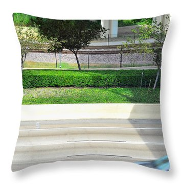 Road And Rail Throw Pillow