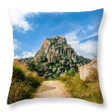 Road Into The Hills Throw Pillow