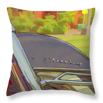 Road King Throw Pillow