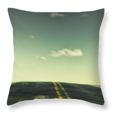 Road Throw Pillow by Margie Hurwich