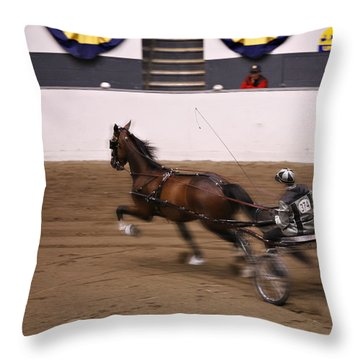 Throw Pillow featuring the photograph Road Pony At Speed by Carol Lynn Coronios