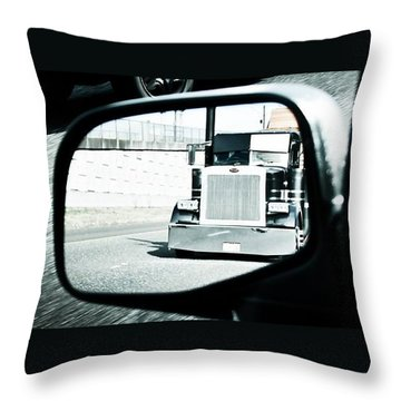 Throw Pillow featuring the photograph Road Rage by Aaron Berg