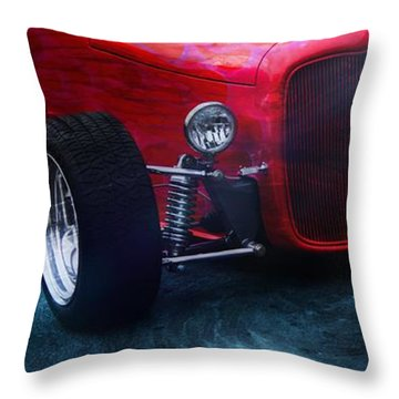 Old Car Throw Pillow featuring the photograph Road Rod  by Aaron Berg