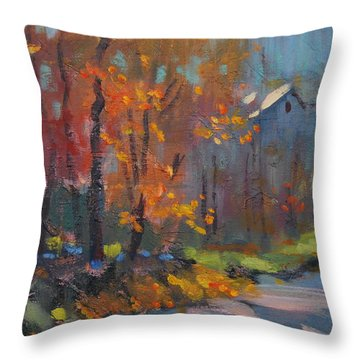 Road South Throw Pillow