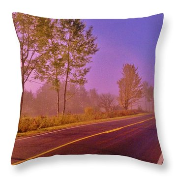 Throw Pillow featuring the photograph Road To... by Daniel Thompson