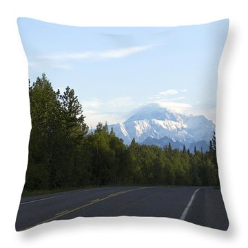 Road To Denali  Throw Pillow
