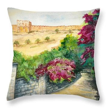 Road To Eastern Gate Throw Pillow