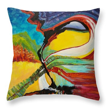 Road To Glory Throw Pillow