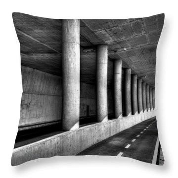 Road To Throw Pillow