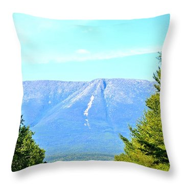 Road To Katahdin Throw Pillow by Tara Potts