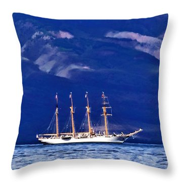 Throw Pillow featuring the photograph Road To Lahaina 34 by Dawn Eshelman