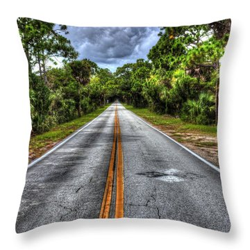 Road To No Where Throw Pillow