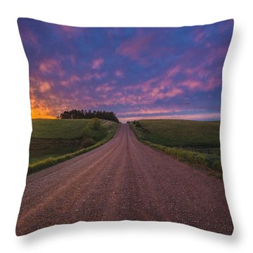Road To Nowhere El Throw Pillow