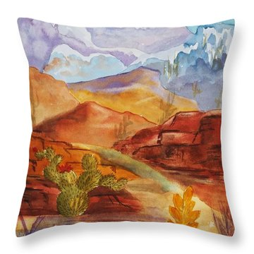 Throw Pillow featuring the painting Road To Nowhere by Ellen Levinson
