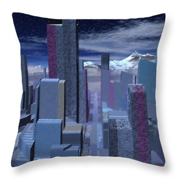 Throw Pillow featuring the digital art Road To Nowhere by Judi Suni Hall