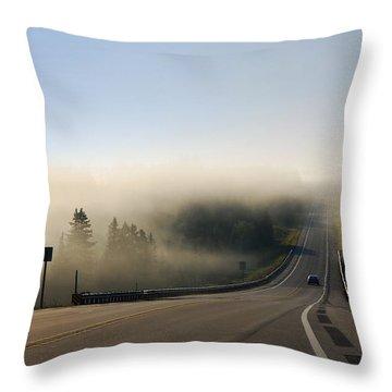 Route 26 Sunrise Landscape Throw Pillow