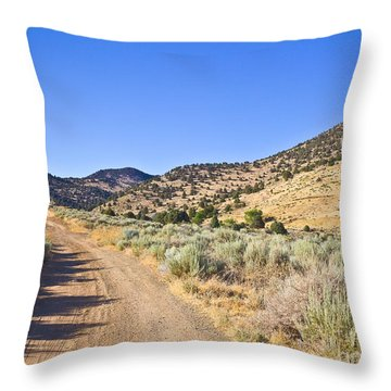 Road To Nowhere - Storey Nevada Throw Pillow