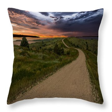 Road To Nowhere - Stormy Little Bend Throw Pillow