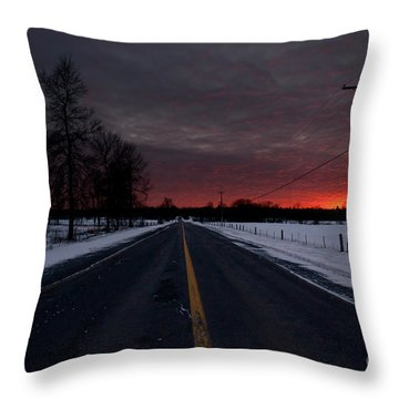 Road To Success Throw Pillow by Cheryl Baxter