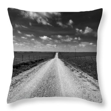 Road To Texaco Hill Throw Pillow