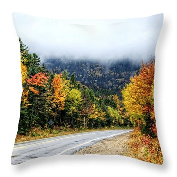 Road To The Clouds Throw Pillow