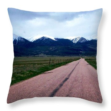 Throw Pillow featuring the photograph Road To Westcliffe by Carlee Ojeda