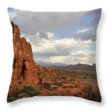 Road Trip Throw Pillow by Cheryl McClure