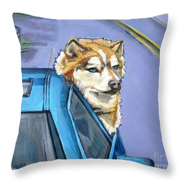 Road-trip - Dog Throw Pillow