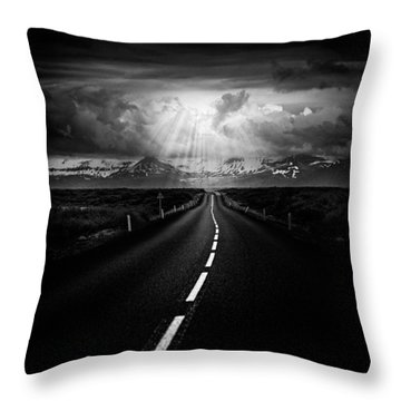 Road Trip Throw Pillow by Ian Good