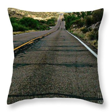 Road Trip Throw Pillow by Lin Haring